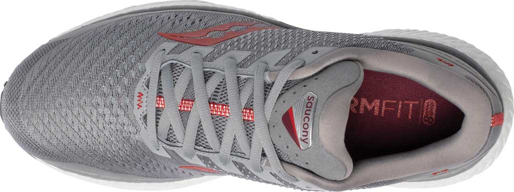 Men's Saucony Triumph 18 Running Sneaker, Alloy/Red, large, image 4