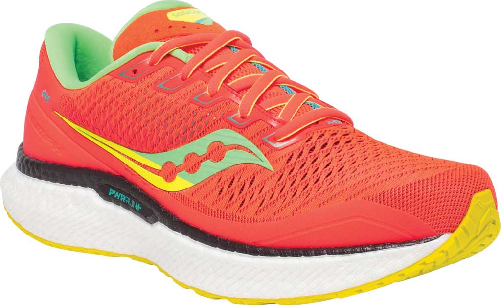 Men's Saucony Triumph 18 Running Sneaker, Red Mutant, large, image 1
