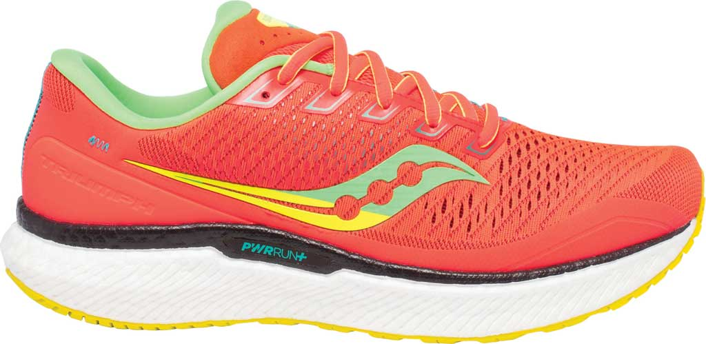 Men's Saucony Triumph 18 Running Sneaker, Red Mutant, large, image 2