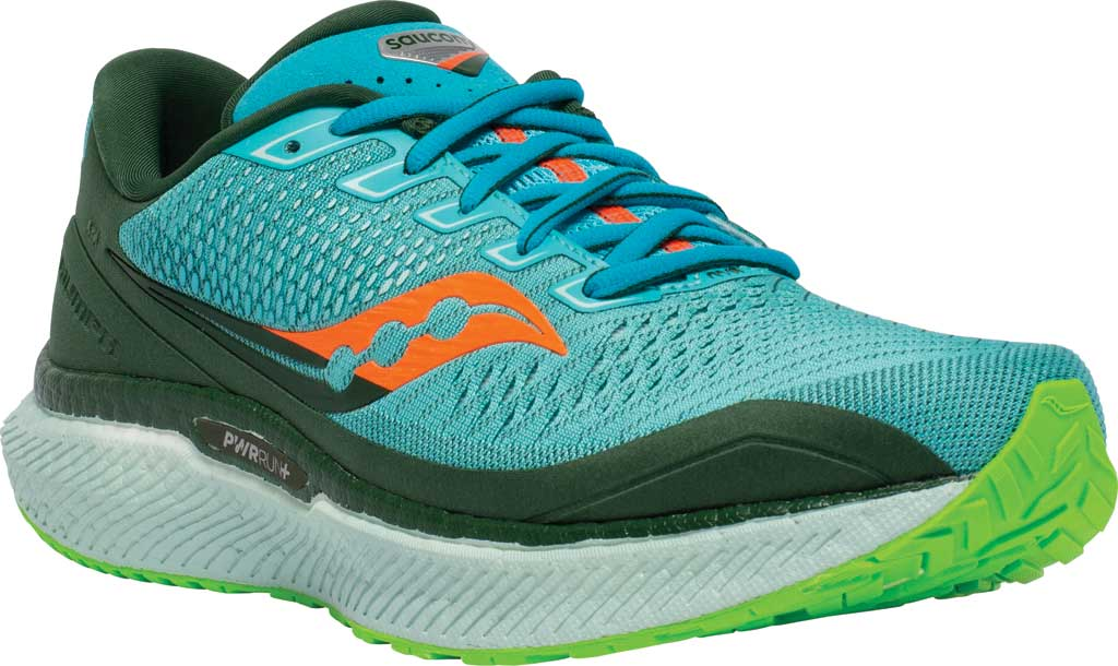 Men's Saucony Triumph 18 Running Sneaker, Future/Blue, large, image 1