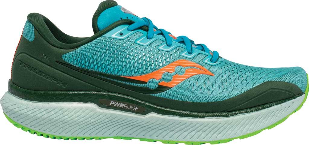 Men's Saucony Triumph 18 Running Sneaker, Future/Blue, large, image 2