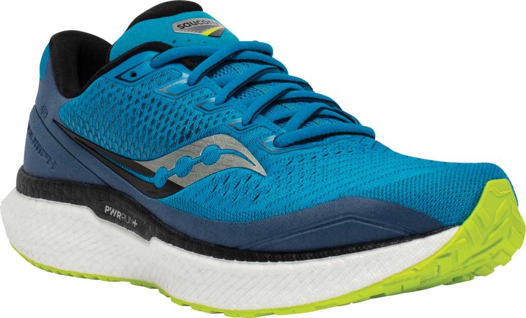 Men's Saucony Triumph 18 Running Sneaker, Cobalt/Storm, large, image 1