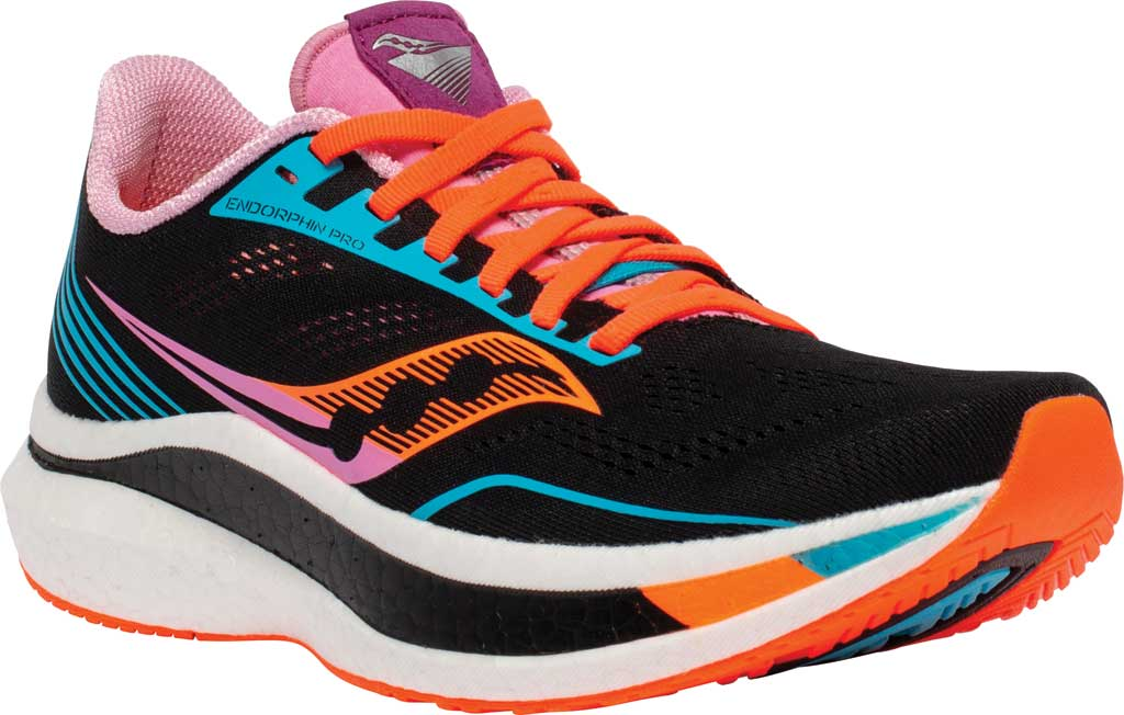 Women's Saucony Endorphin Pro Running Sneaker, Future/Black, large, image 1