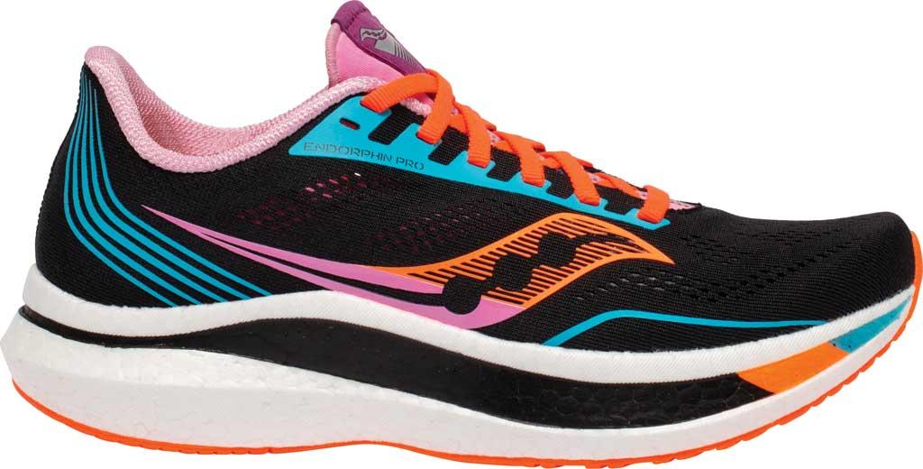Women's Saucony Endorphin Pro Running Sneaker, Future/Black, large, image 2