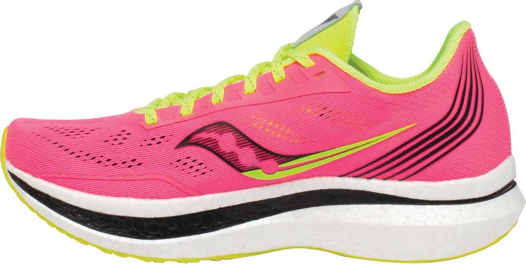 Women's Saucony Endorphin Pro Running Sneaker, Vizi/Pink, large, image 3