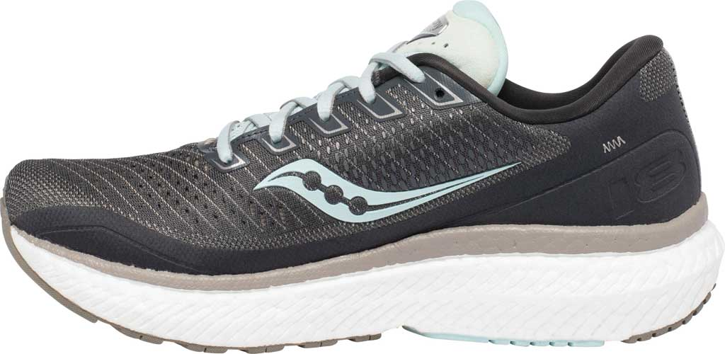 Women's Saucony Triumph 18 Running Sneaker, Charcoal/Sky, large, image 3