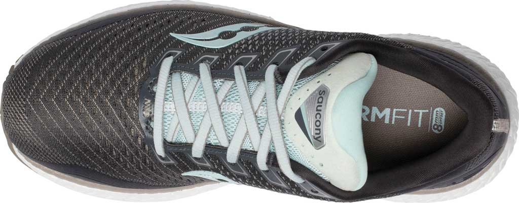 Women's Saucony Triumph 18 Running Sneaker, Charcoal/Sky, large, image 4