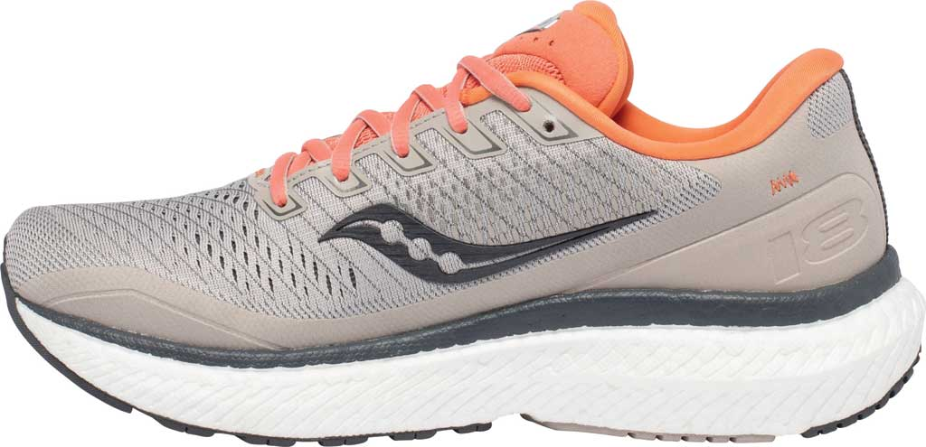 Women's Saucony Triumph 18 Running Sneaker, Moonrock/Coral, large, image 3