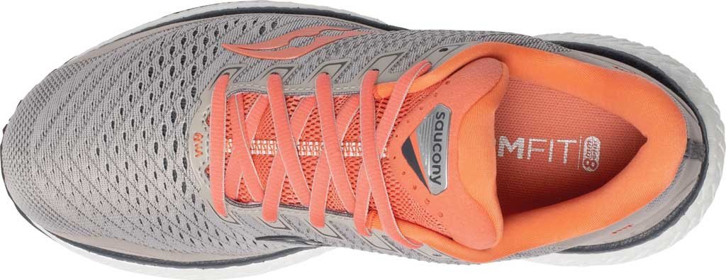 Women's Saucony Triumph 18 Running Sneaker, Moonrock/Coral, large, image 4