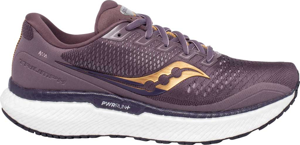 Women's Saucony Triumph 18 Running Sneaker, Dusk/Gold, large, image 2