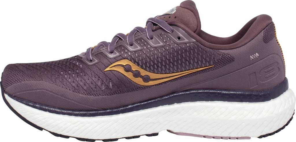 Women's Saucony Triumph 18 Running Sneaker, Dusk/Gold, large, image 3