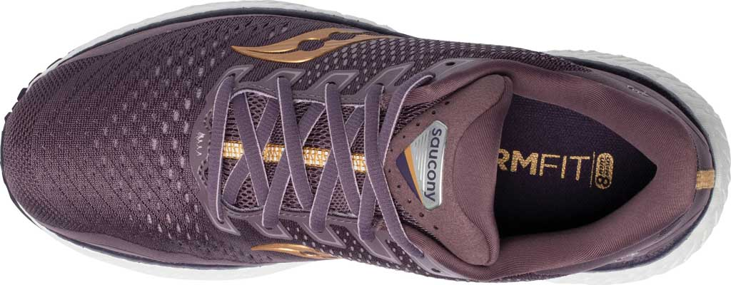 Women's Saucony Triumph 18 Running Sneaker, Dusk/Gold, large, image 4