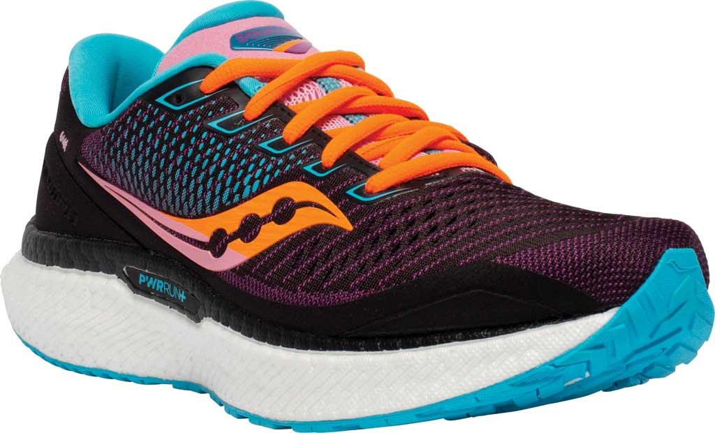 Women's Saucony Triumph 18 Running Sneaker, Future/Black, large, image 1