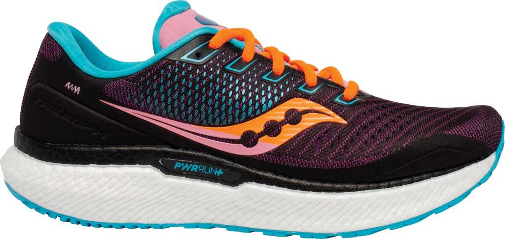 Women's Saucony Triumph 18 Running Sneaker, Future/Black, large, image 2