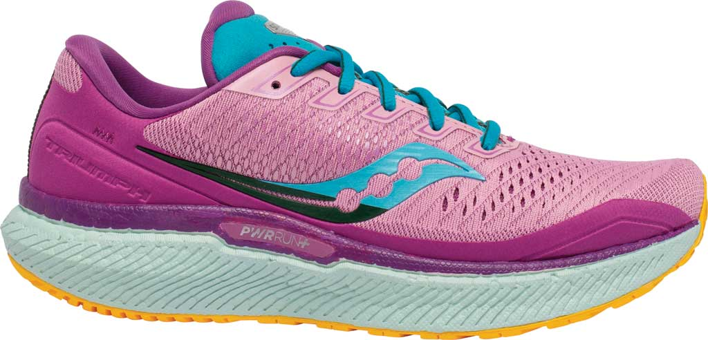 Women's Saucony Triumph 18 Running Sneaker, Future/Pink, large, image 2