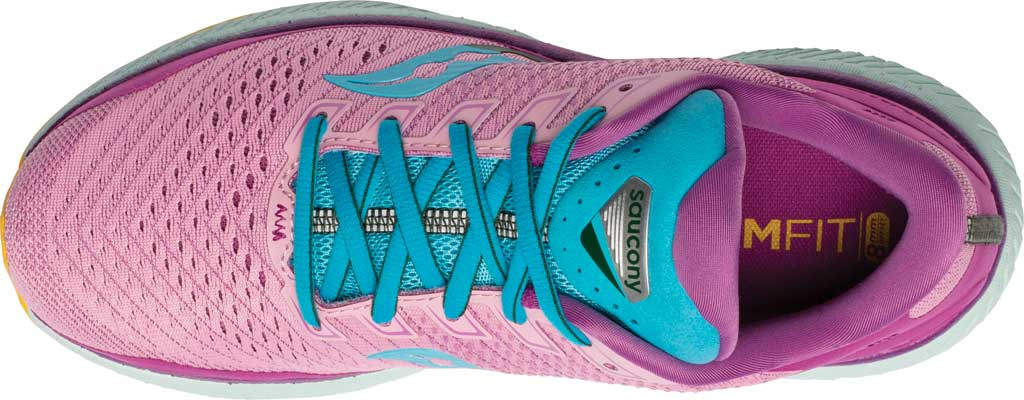 Women's Saucony Triumph 18 Running Sneaker, Future/Pink, large, image 4