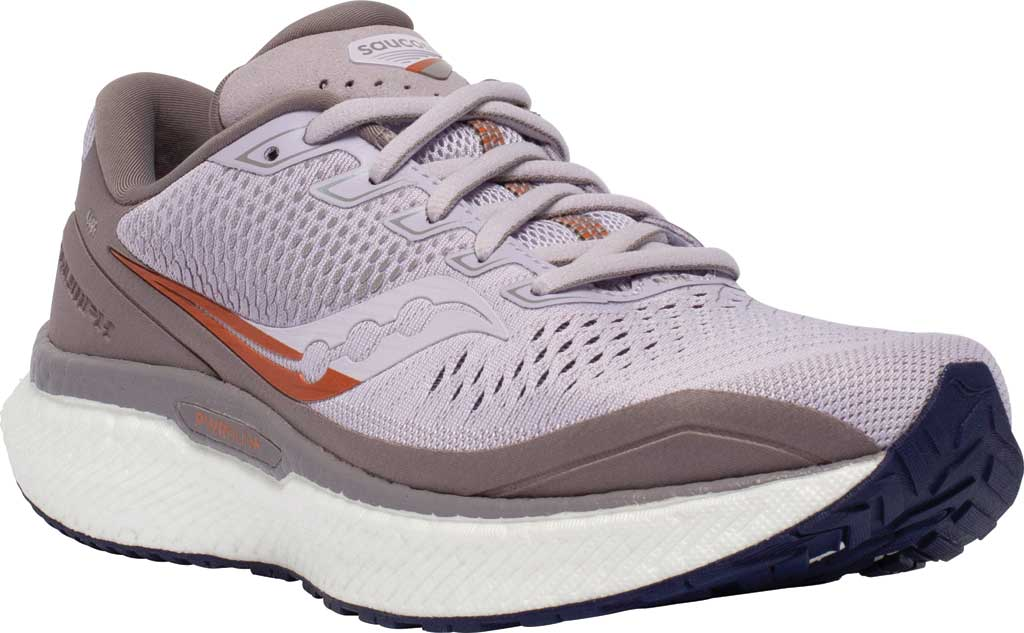 Women's Saucony Triumph 18 Running Sneaker, Lilac/Copper, large, image 1