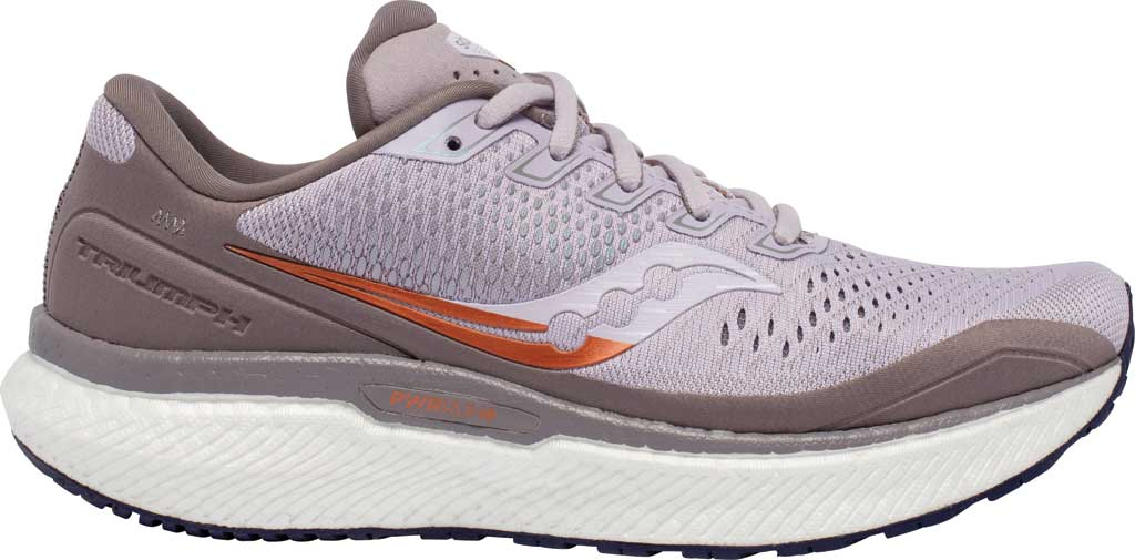 Women's Saucony Triumph 18 Running Sneaker, Lilac/Copper, large, image 2