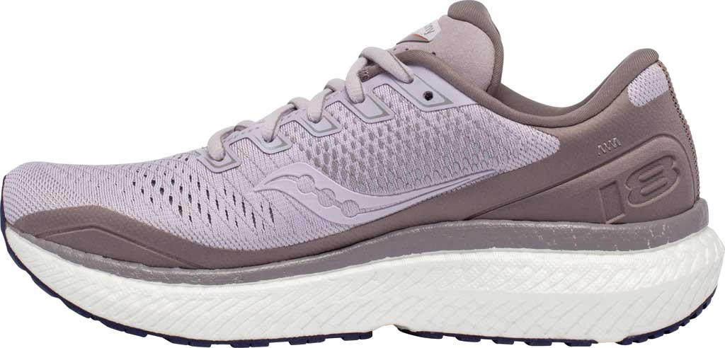 Women's Saucony Triumph 18 Running Sneaker, Lilac/Copper, large, image 3