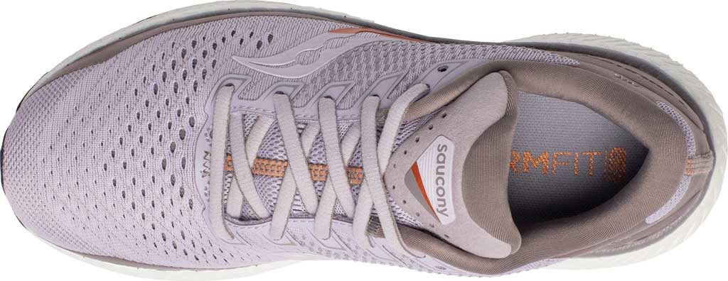 Women's Saucony Triumph 18 Running Sneaker, Lilac/Copper, large, image 4