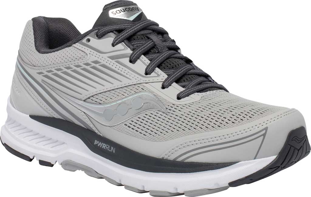 Women's Saucony Echelon 8 Running Sneaker, Alloy/Charcoal, large, image 1