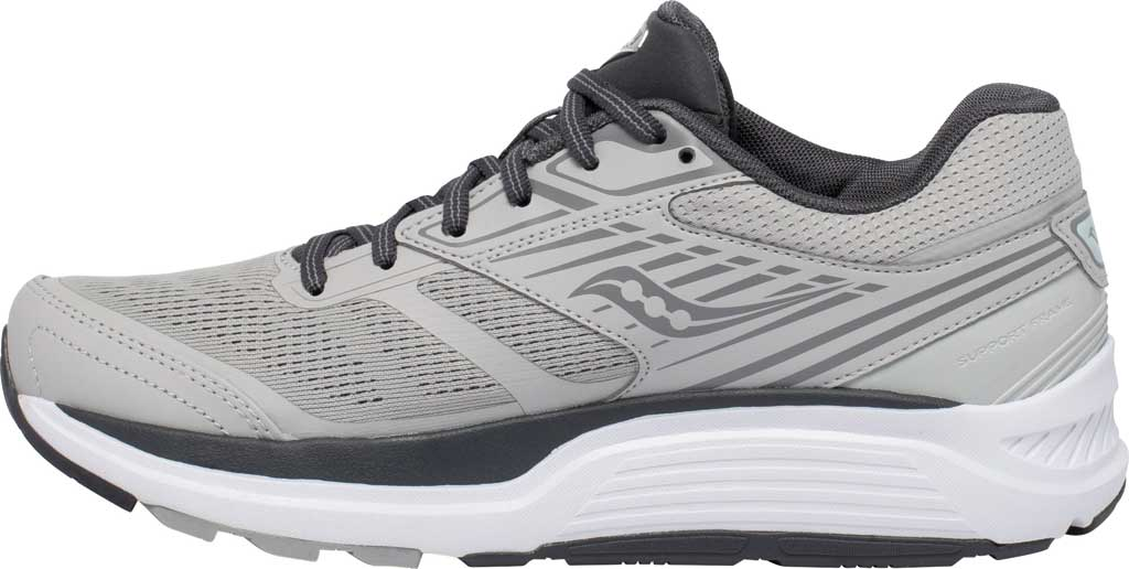 Women's Saucony Echelon 8 Running Sneaker, Alloy/Charcoal, large, image 3
