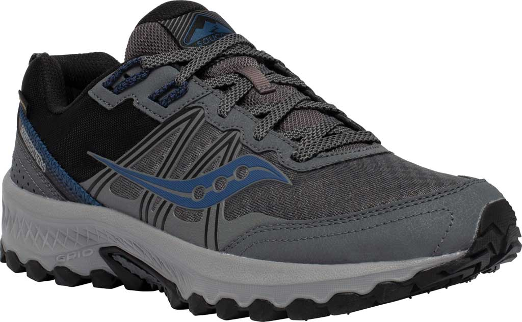 Men's Saucony Excursion TR14 GORE-TEX Trail Running Sneaker, Charcoal/Storm, large, image 1