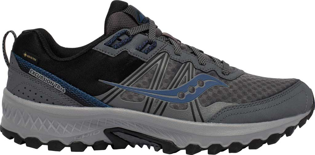 Men's Saucony Excursion TR14 GORE-TEX Trail Running Sneaker, Charcoal/Storm, large, image 2