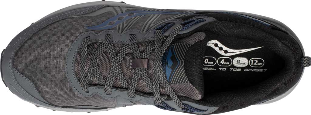 Men's Saucony Excursion TR14 GORE-TEX Trail Running Sneaker, Charcoal/Storm, large, image 4