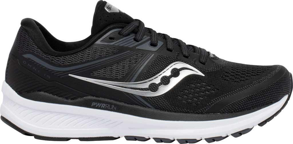 Women's Saucony Omni 19 Running Sneaker, Black/White, large, image 2