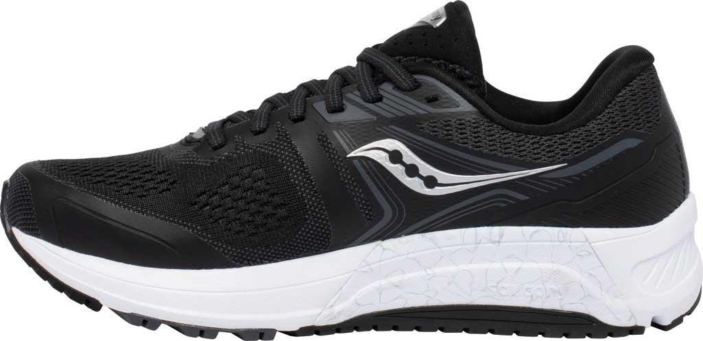 Women's Saucony Omni 19 Running Sneaker, Black/White, large, image 3