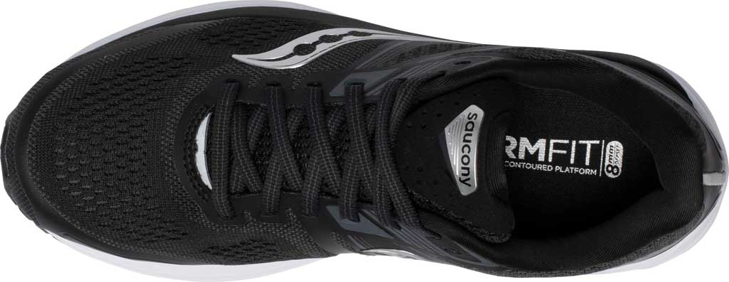 Women's Saucony Omni 19 Running Sneaker, Black/White, large, image 4