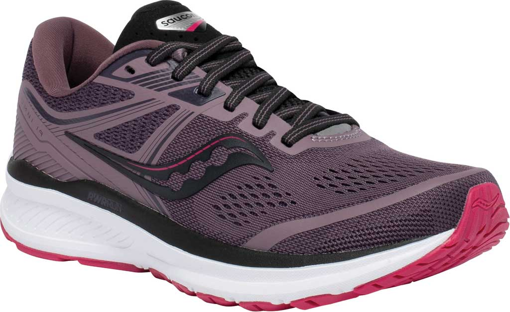 Women's Saucony Omni 19 Running Sneaker, Dusk/Berry, large, image 1