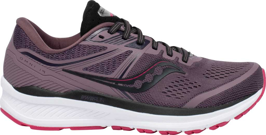 Women's Saucony Omni 19 Running Sneaker, Dusk/Berry, large, image 2