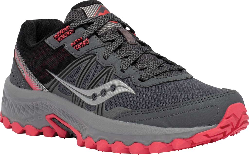 Women's Saucony Excursion TR14 Trail Running Sneaker, Charcoal/Coral, large, image 1
