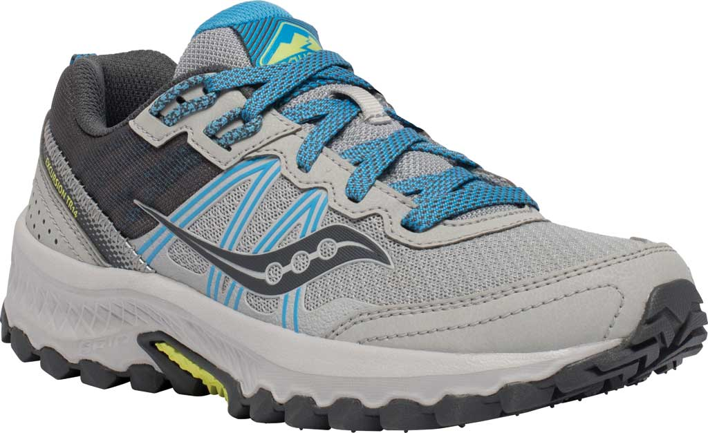 Women's Saucony Excursion TR14 Trail Running Sneaker, Grey/Blue/Glade, large, image 1