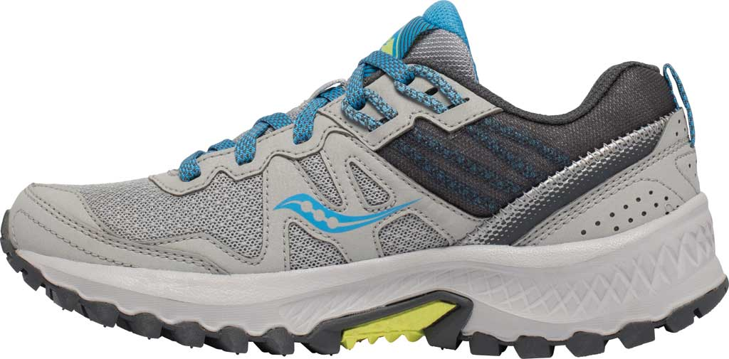 Women's Saucony Excursion TR14 Trail Running Sneaker, Grey/Blue/Glade, large, image 3