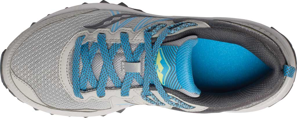 Women's Saucony Excursion TR14 Trail Running Sneaker, Grey/Blue/Glade, large, image 4