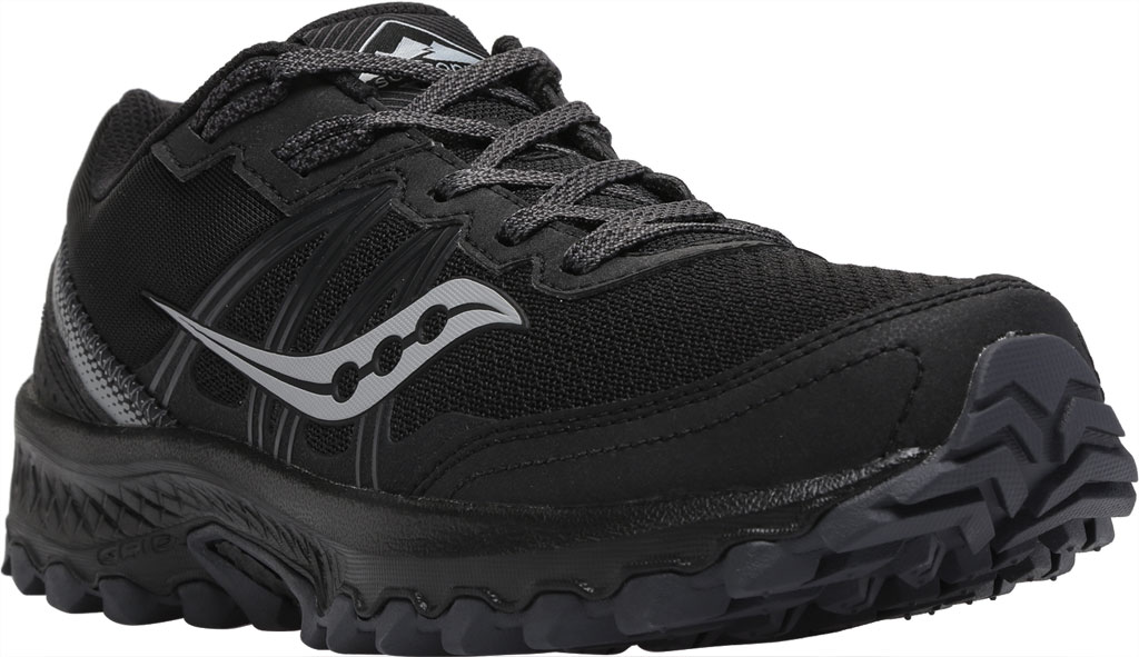 Men's Saucony Excursion TR14 Trail Running Sneaker, Black/Charcoal, large, image 1