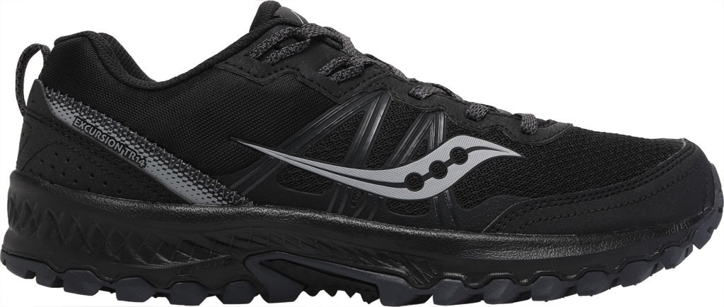 Men's Saucony Excursion TR14 Trail Running Sneaker, Black/Charcoal, large, image 2