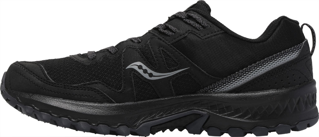 Men's Saucony Excursion TR14 Trail Running Sneaker, Black/Charcoal, large, image 3