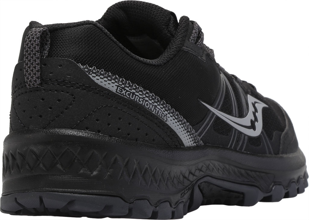 Men's Saucony Excursion TR14 Trail Running Sneaker, Black/Charcoal, large, image 4