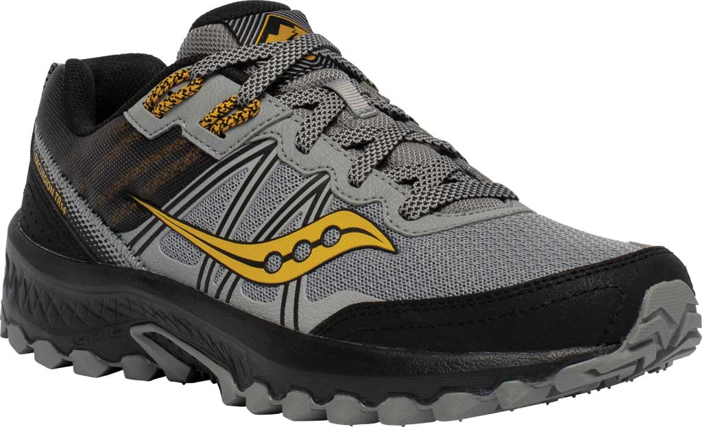 Men's Saucony Excursion TR14 Trail Running Sneaker, Grey/Gold, large, image 1