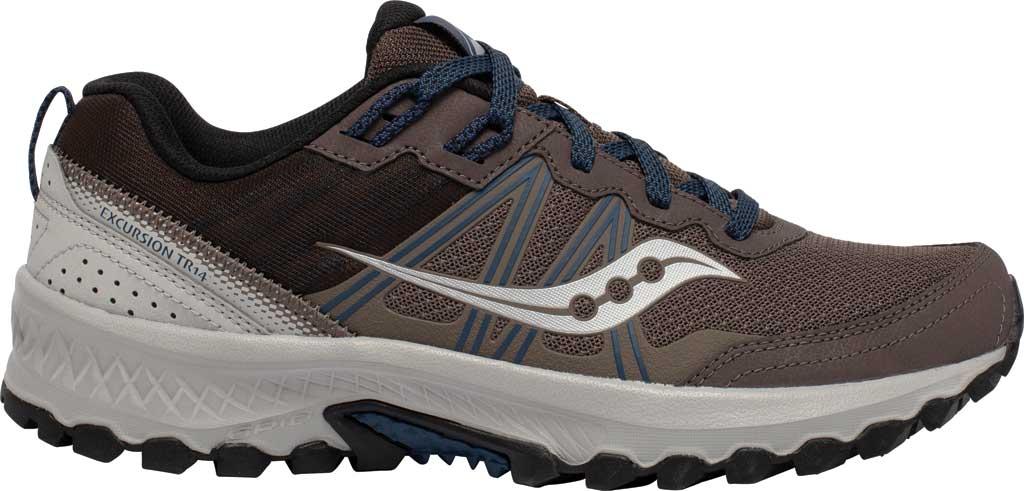 Men's Saucony Excursion TR14 Trail Running Sneaker, Gravel/Storm, large, image 2