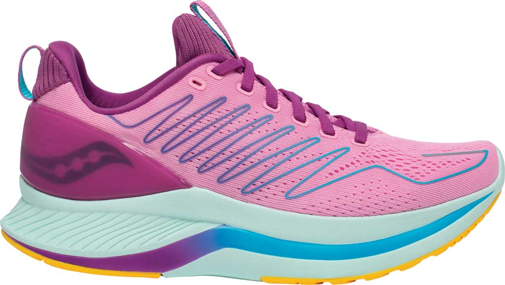 Women's Saucony Endorphin Shift Running Sneaker, Future/Pink, large, image 2