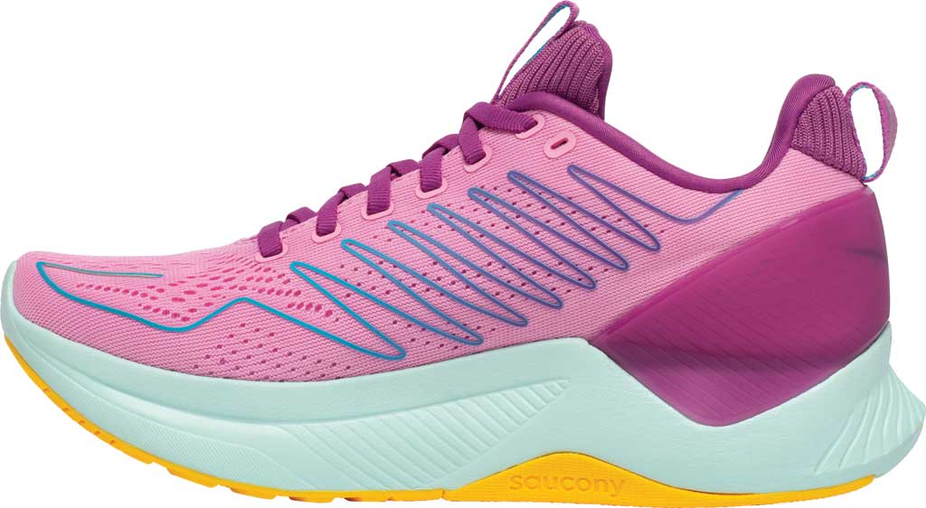 Women's Saucony Endorphin Shift Running Sneaker, Future/Pink, large, image 3