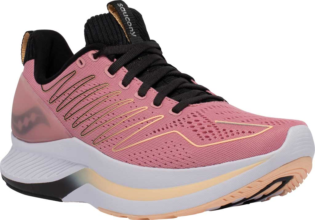 Women's Saucony Endorphin Shift Running Sneaker, Rosewater/Black, large, image 1
