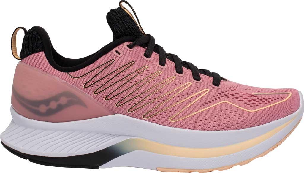 Women's Saucony Endorphin Shift Running Sneaker, Rosewater/Black, large, image 2