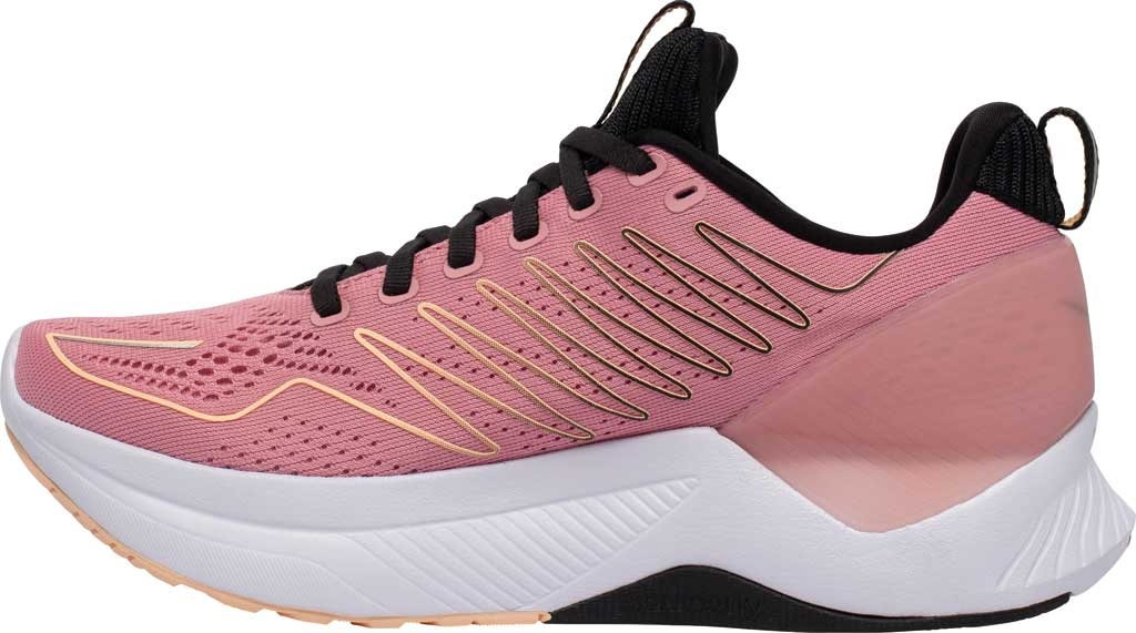Women's Saucony Endorphin Shift Running Sneaker, Rosewater/Black, large, image 3