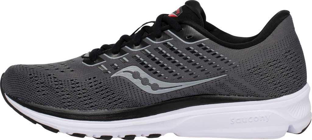 Men's Saucony Ride 13 Running Sneaker, Charcoal/Black, large, image 3